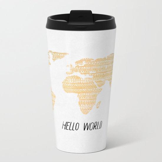 Hello World Metal Travel Mug