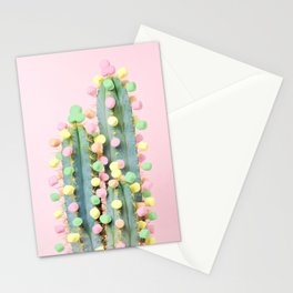 Marshmallow Cactus in Bloom Stationery Cards