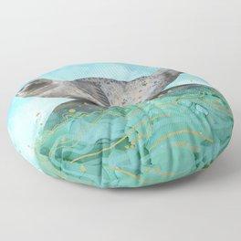 Cute Alaskan Iliamna Seal in Banana Pose Floor Pillow
