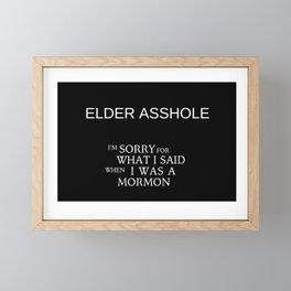 Elder Asshole Framed Mini Art Print