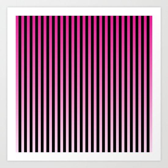 Slimming Pinks Art Print