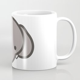Cartoon Elephant Face Emoji Coffee Mug