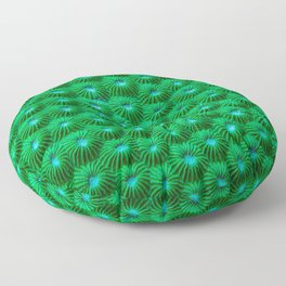 Green Curl Polyps Floor Pillow