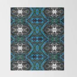 Patterned Art Prints - Cool Change - By Sharon Cummings Throw Blanket