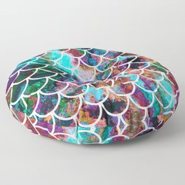 Fish Scales & Rainbow Colors Floor Pillow