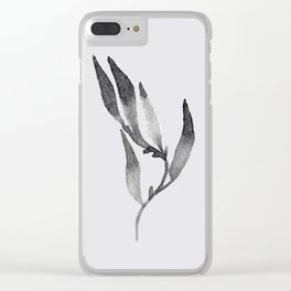 Baesic Mono Floral (Leaf 1) Clear iPhone Case
