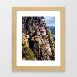 Taktshang Goemba - Tiger's Nest Monastery Framed Art Print