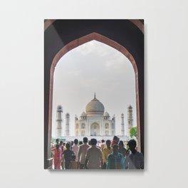 Entering the Taj Mahal Metal Print