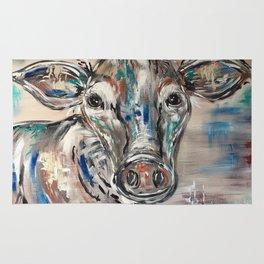 Rainbow Cow Rug