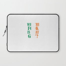 McGregor - Who The Fook Is That Guy Laptop Sleeve