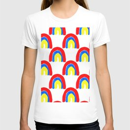 Watercolor Primary Rainbows Repeat T-shirt