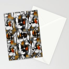 Retro Breakfast Coffee Pattern  Stationery Cards