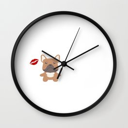 I Kissed A French Bulldog And I Liked It Cute Dog Kiss Gift Idea Wall Clock