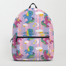 g1 my little pony Nightlight and Raindrop Backpack