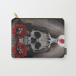Voodoo Skull and Roses with candle Carry-All Pouch