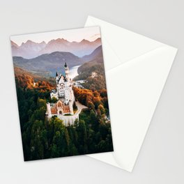 Dreamy fairytale moment at Neuschwanstein castle Bavaria Germany Stationery Cards
