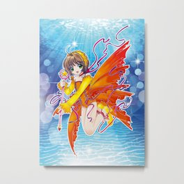 Sakura Kinomoto (Fish Dress) Metal Print