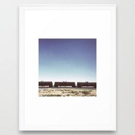 Desert Train Framed Art Print