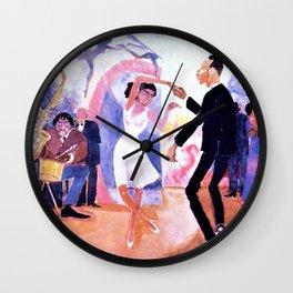 Harlem Renaissance 'Bal jeunesse' by Palmer Hayden Wall Clock