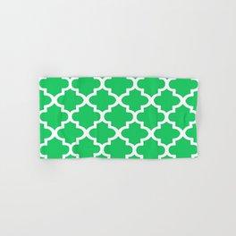 Arabesque Architecture Pattern In Zen Green Hand & Bath Towel
