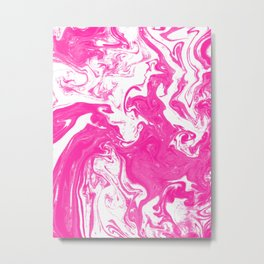 Akane - spilled ink japanese watercolor marble pisces abstract minimal marbling Metal Print