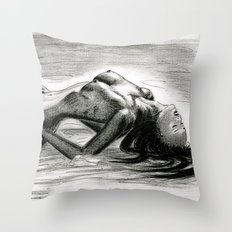 Passion in Black and White Throw Pillow