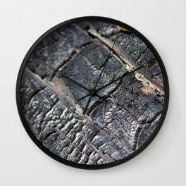 Burnt Log Wall Clock