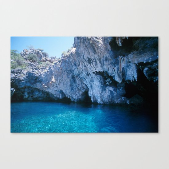 NATURE'S WONDER #5 - BLUE GROTTO (Turkey) #2 #art #society6 Canvas Print