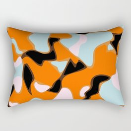 Geometric Camo Pattern In Bright Colors Rectangular Pillow