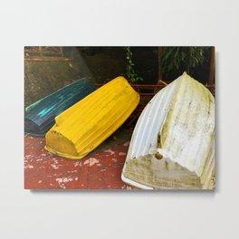 Just Boats Metal Print