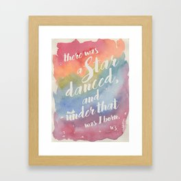 There was a star danced Framed Art Print