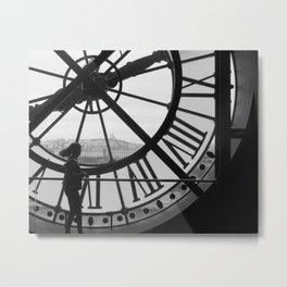 Clock at the Musee d'Orsay, Paris Metal Print