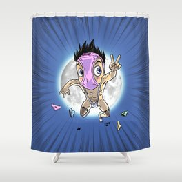 KWeb #6 : Hentai Kamen (colors) Shower Curtain