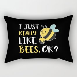 I Just Really Like Bees Rectangular Pillow