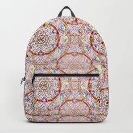 Oriental pattern, beige background with bright decorative elements. Backpack