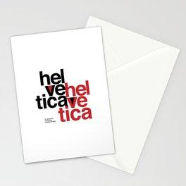 Suisse Swiss Helvetica Type Specimen Artwork in White Stationery Cards