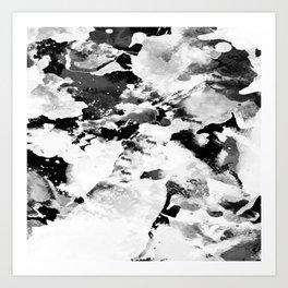 Blk Marble Art Print