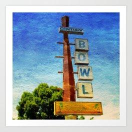 Century Bowl - Merced, CA Art Print
