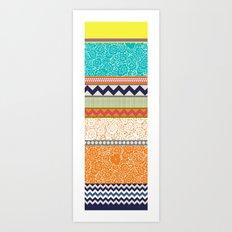 seaview beauty stripe Art Print