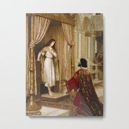 Edmund Blair Leighton - A King And A Beggar Maid Metal Print
