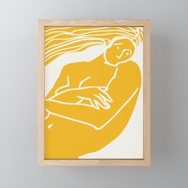 Figurative in yellow Framed Mini Art Print