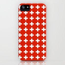 flag of switzerland 2-Switzerland, Alps,swiss,Schweizer,suisse,zurich,bern,geneva iPhone Case