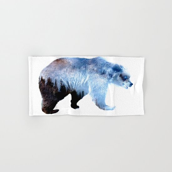 Lazy Bear Hand & Bath Towel