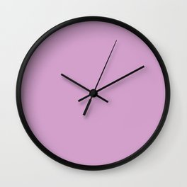orchid color coordinate solid Wall Clock