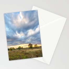 Field at Sunset Stationery Cards