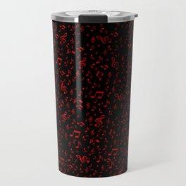 dark red music notes Travel Mug