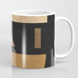 Geometric Harmony Black 03 - Minimal Abstract Coffee Mug