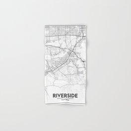 Minimal City Maps - Map Of Riverside, California, United States Hand & Bath Towel