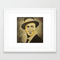 frank sinatra Framed Art Prints featuring Frank Sinatra by Jarod Lew