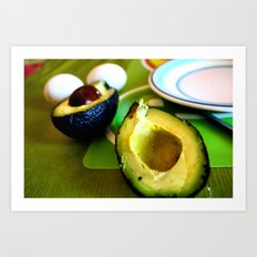 Avocados in Chile Art Print
